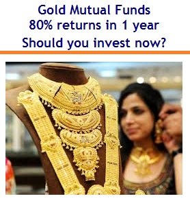 Gold Mutual Funds - 80percent returns in 1 year - Should you invest now