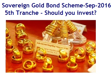 Sovereign Gold Bond Scheme Sep-2016