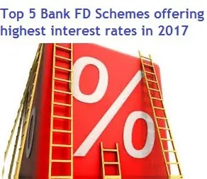 Top 5 Bank FD Schemes offering highest interest rates in India in 2017