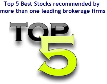 Top 5 Stocks recommended by more than one leading brokerage firms in India-min