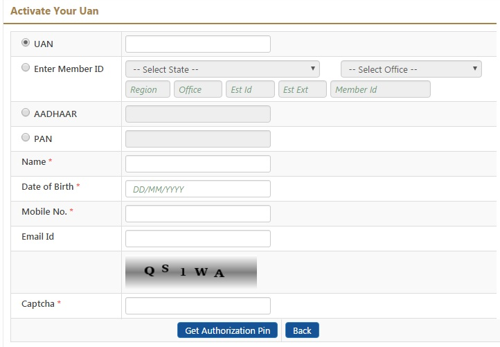 how to activate EPF UAN Number in India