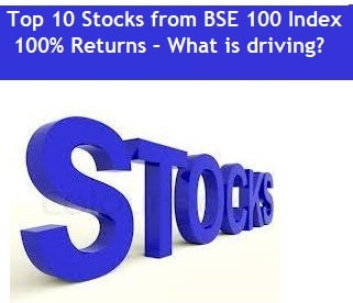 Top 10 Stocks from BSE 100 Index - 100% Returns – What is driving