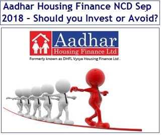 Aadhar Housing Finance NCD Sep 2018 – Invest or Avoid