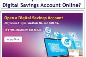 How to open Zero Balance Digital Savings Account Online