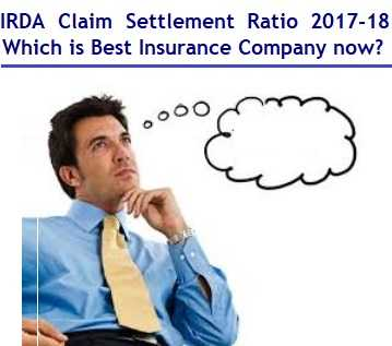 IRDA Life insurance Claim settlement ratio (FY2017-2018) Review