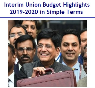 Union Budget Highlights 2019-2020 in Simple Terms
