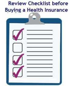 Review Checklist before Buying Health Insurance