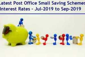 Latest Post Office Small Saving Scheme Interest Rates July-Sep-2019 Review
