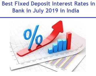 Best Fixed Deposit Interest Rates in Bank in July 2019 in India