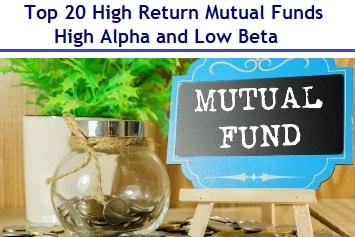 Top 20 High Return Mutual Funds - High Alpha and Low Beta