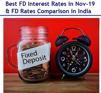 Best FD interest rates in Nov-2019-FD rates comparison