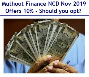 Muthoot Finance NCD Nov 2019 Review
