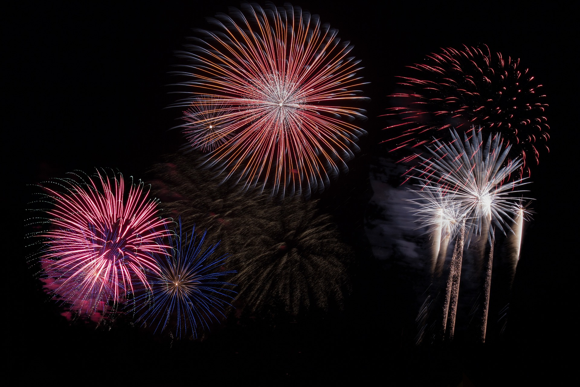 One year in Invisalign braces - image of fireworks.