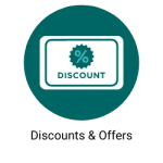 dicounts and Offers button