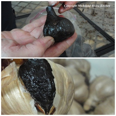 Black Garlic Bulb and Clove