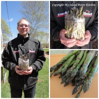 Tim Dixon with freshly picked asparagus from his North Tryon, PEI Farm