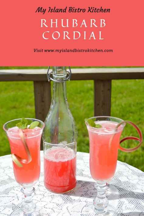Beautiful pink drink made with rhubarb