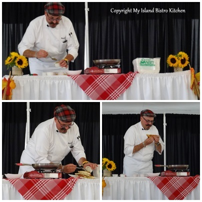 Chef Massimo on Stage at the Great Grilled Cheese Challenge in North River, PEI (2013)