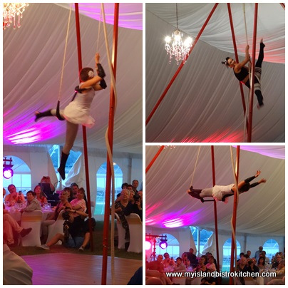 Performers from Atlantic Cirque