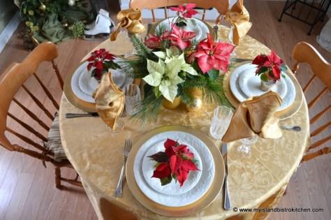 Poinsettia Tablesetting