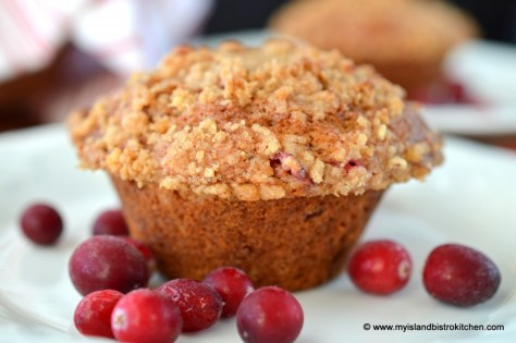 Cranberry-Banana Eggnog Muffin