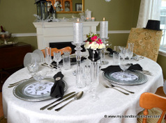 New Year's Eve Tablesetting