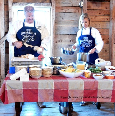 Chefs Anna and Michael Olson at Clinton Hills, PEI (2016)