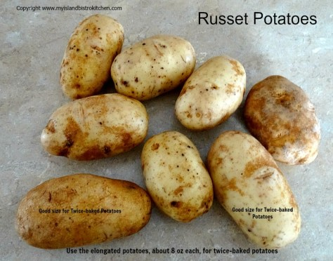 Russet Potatoes for Twice-Baked Potatoes
