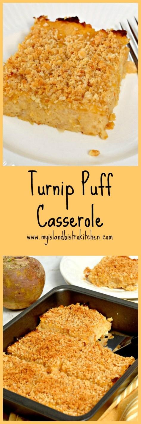 Turnip Puff Casserole - perfect side dish to turkey, beef, or pork