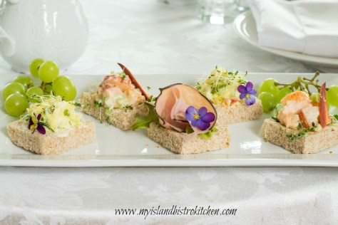 Open-faced Tea Sandwiches