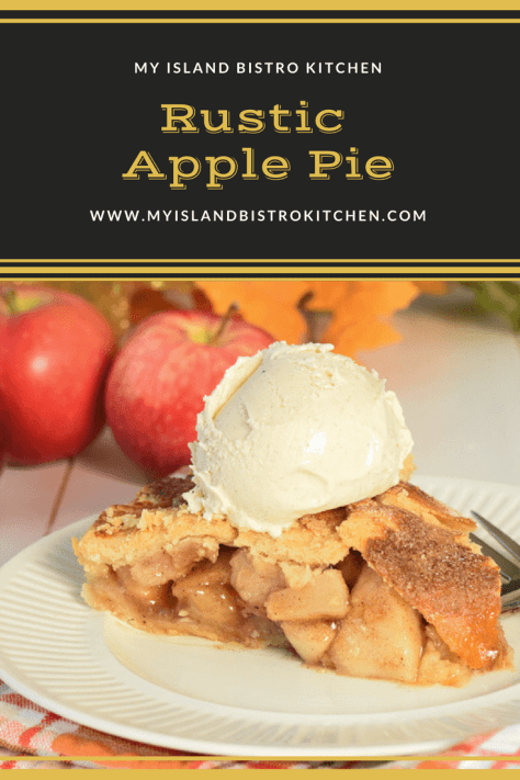 Classic Apple Pie made with a combination of sweet and tart apples and a perfect blend of spices