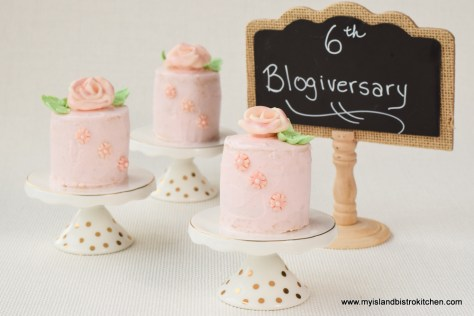 My Island Bistro Kitchen's 6th Blogiversary Mini Cakes