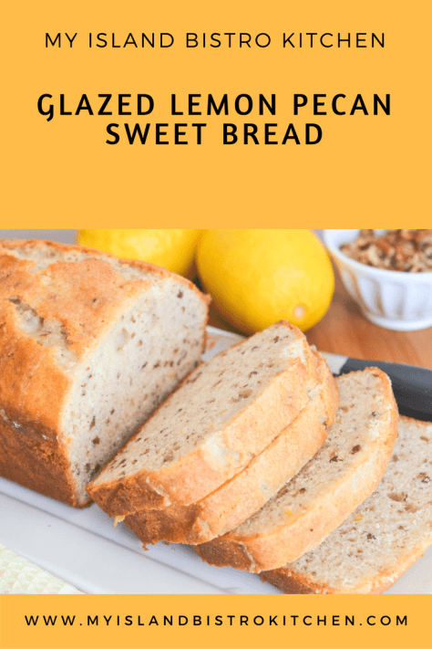 Glazed Lemon Pecan Sweet Bread