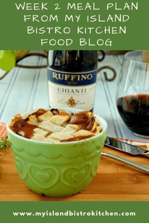 Week 2 Meal Plan from My Island Bistro Kitchen Food Blog