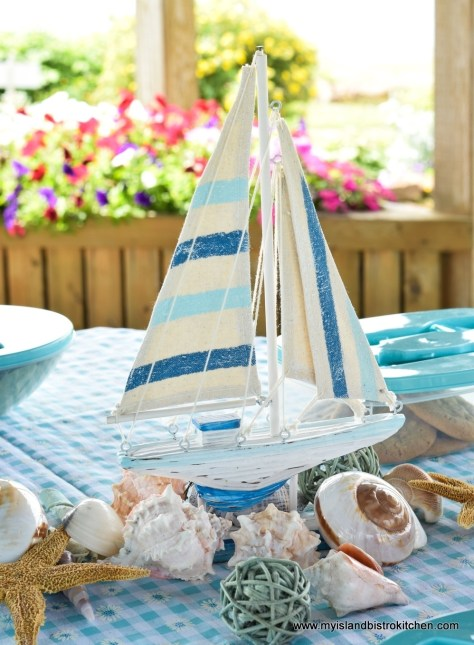 Sailboat and Shells Tablescape