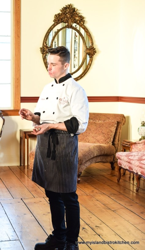 Executive Chef, Michael Bradley, at The Table Culinary Studio in New London, PEI