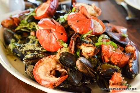Lobster and Mussels at The Table Culinary Studio, New London, PEI