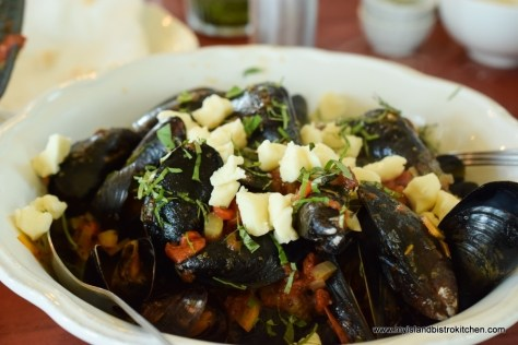 PEI Mussels with Butter at The Table Culinary Studio in New London, PEI