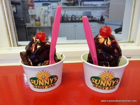 Hot Fudge Sundae at Sunny's Dairy Bar, Summerside, PEI