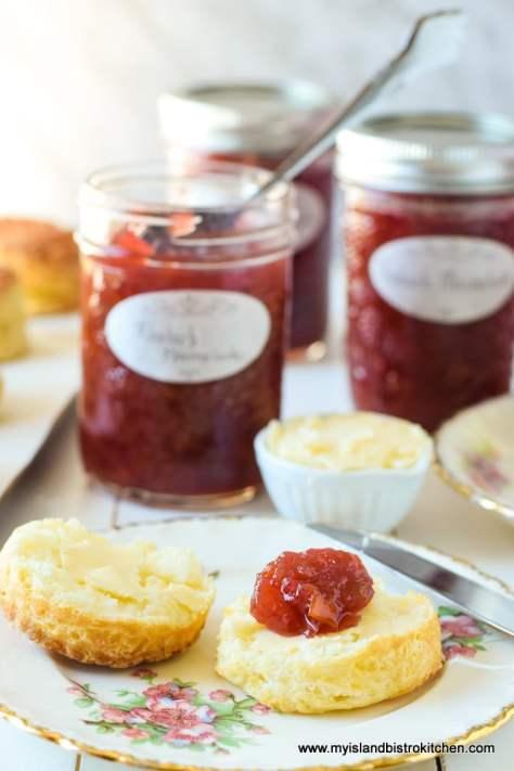 Jars of Rhubarb Marmalade