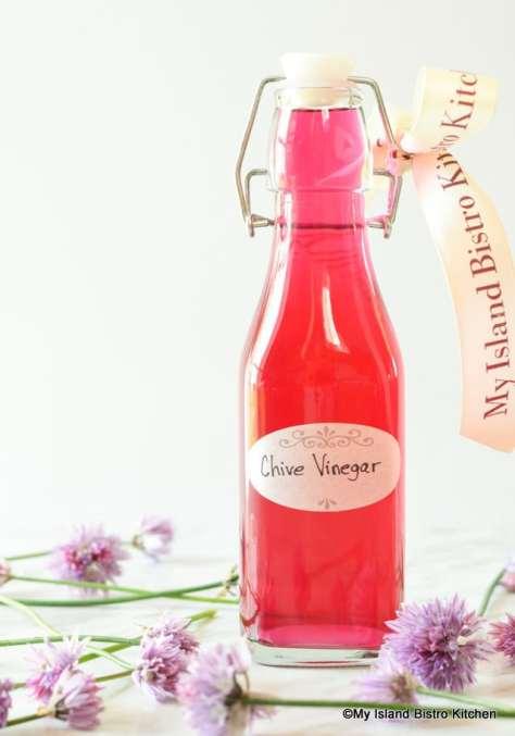 Bottle of Chive Vinegar