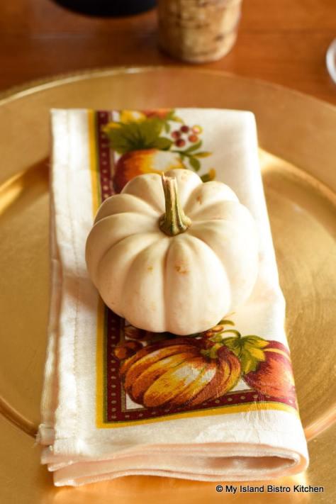 Miniature white pumpkin