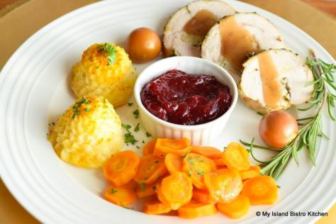 Plated Thanksgiving Dinner