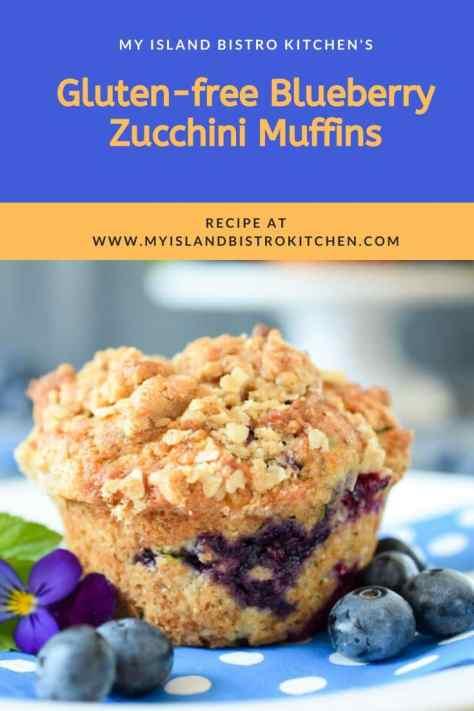 Close-up of Gluten-free Blueberry Zucchini Muffin