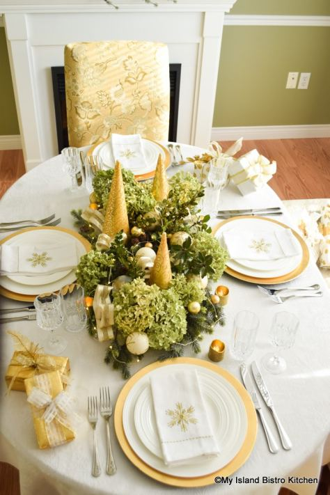 Christmas tablesetting