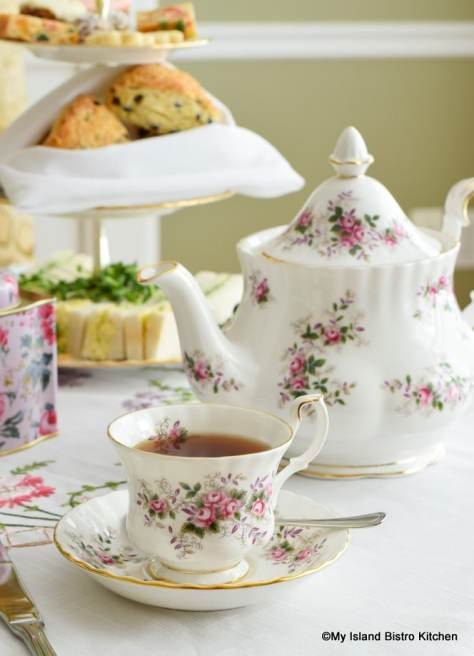 Lavender Rose teapot and matching teacup