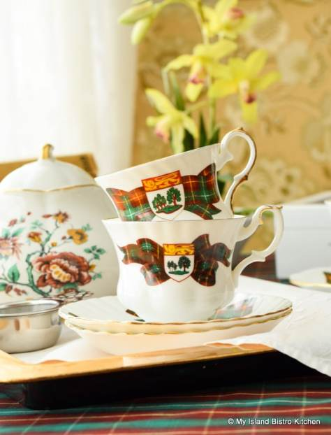 Commemorative PEI cups and saucers