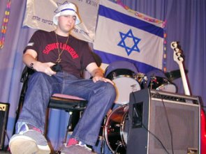 Rare images from Antithesis's first ever gig - the FZY song contest back in 2001