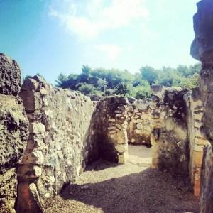 Canaanite ruins at Derech HaDorot