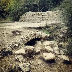 Ruins of a flour mill along Nachal Kziv
